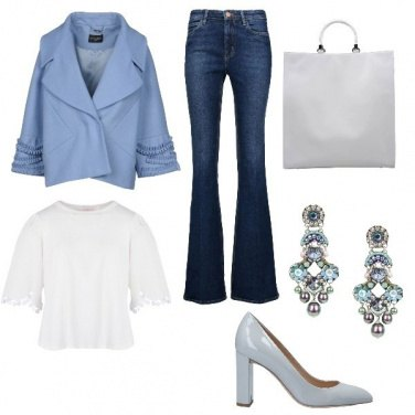 Outfit Celeste chic