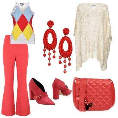 Outfit Panna e corallo