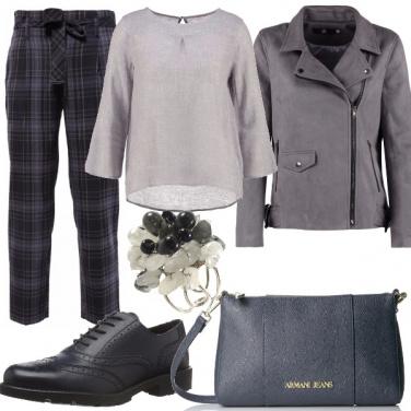Outfit Semplicemente grigio e blu