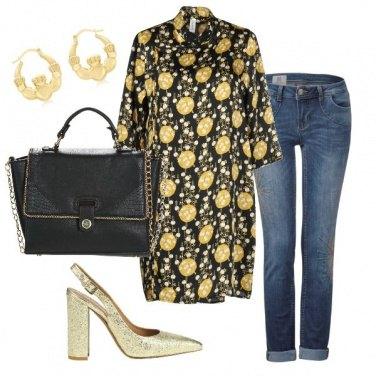 Outfit Oro anche di giorno