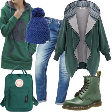 Outfit Verde per il tempo libero