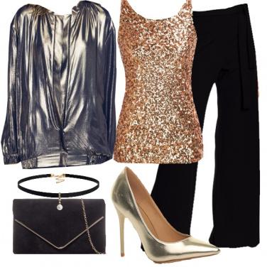 Outfit Oro per la sera