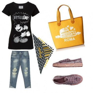 Outfit Casual in giallo