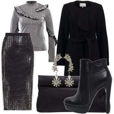 Outfit Nero brillante