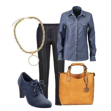 Outfit Camicia di jeans e tacchi