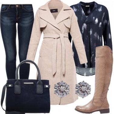 Outfit Raffinata in jeans e stivali
