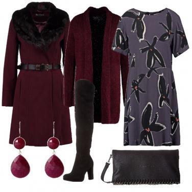 Outfit Il bel colore borgogna