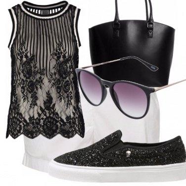 Outfit Bianco e nero...