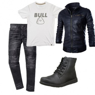 Outfit Biker Rock #299