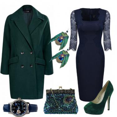 Outfit Verde e blu pavone