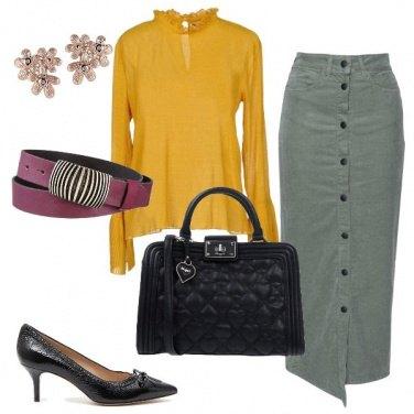 Outfit Longuette e mezzo tacco