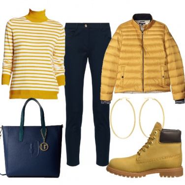 Outfit Shopping in giallo