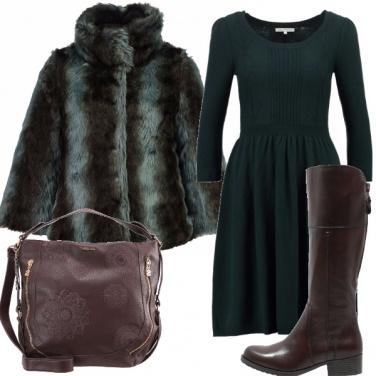 Outfit Lana e pelliccia