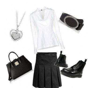 Outfit Perfetta in bianco e nero