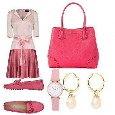 Outfit Ufficio in rosa