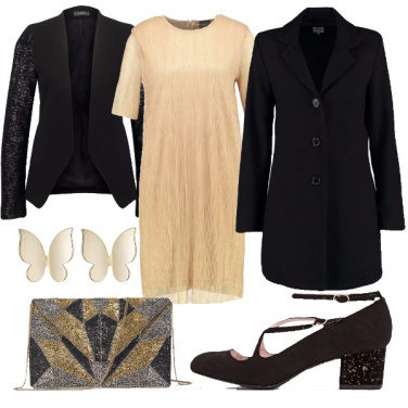 Outfit Farfalle e paillettes