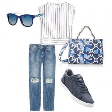 Outfit Blu jeans
