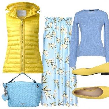 Outfit Giallo sole Azzurro cielo