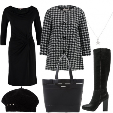Outfit Il cappotto pied de poule