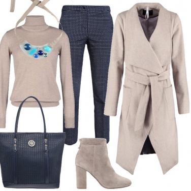 Outfit Caldo e comodo cappotto