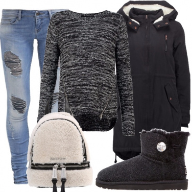 Outfit Zainetto e Ugg