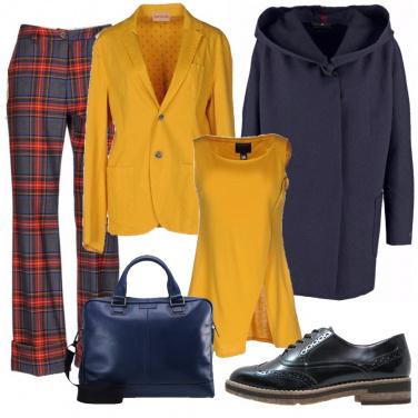 Outfit Tartan blu