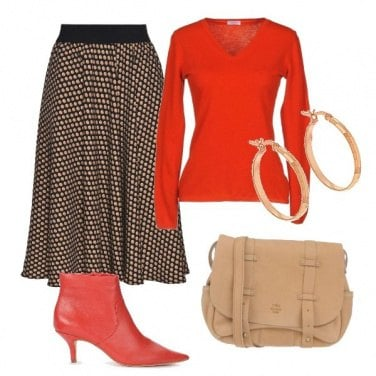 Outfit Red and pattern
