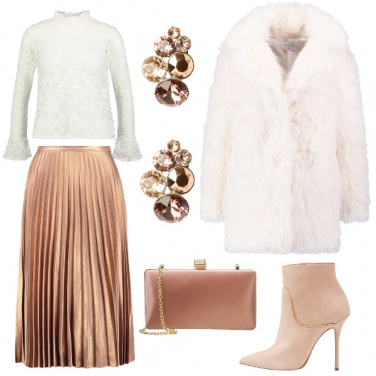 Outfit Raffinata in plissé