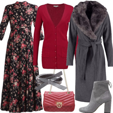 Outfit Autunno floreale