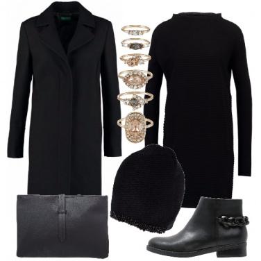 Outfit Vestito in maglia