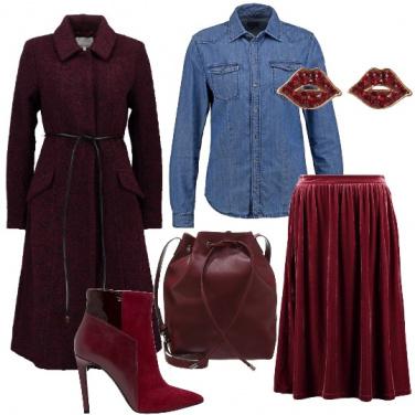 Outfit Alla moda dal burgundy al vinaccia