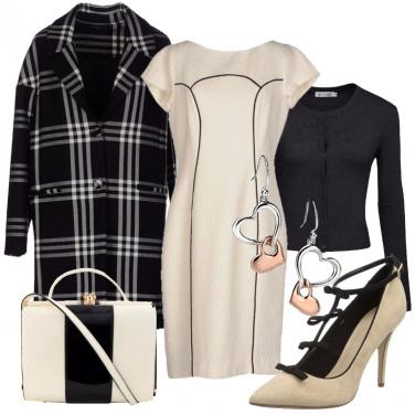 Outfit Avorio e nero