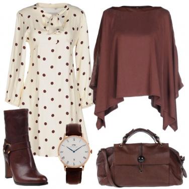 Outfit Pois marroni