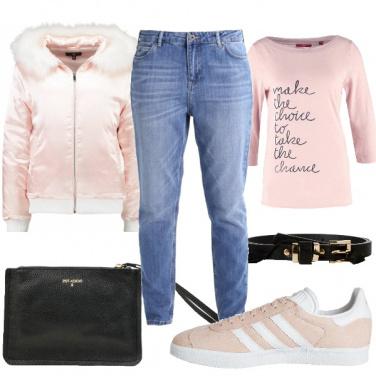 Outfit Delicato rosa
