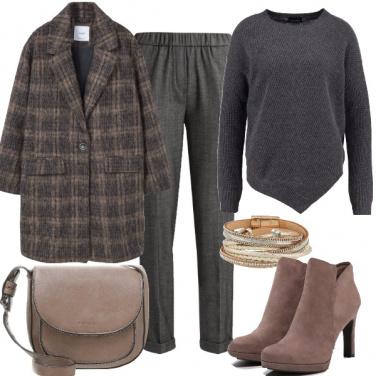 Outfit Grigio e taupe