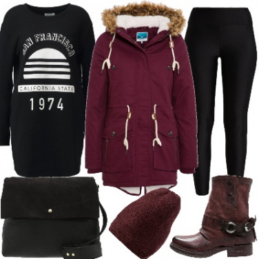 Outfit Parka in versione urban