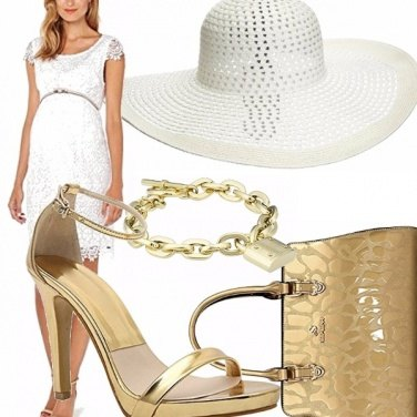 Outfit White & gold....