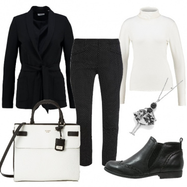 Outfit Bianco e nero che passione