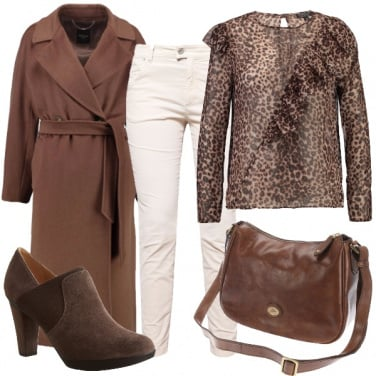 Outfit Animalier e bianco