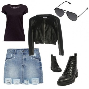 Outfit Rock do giorno