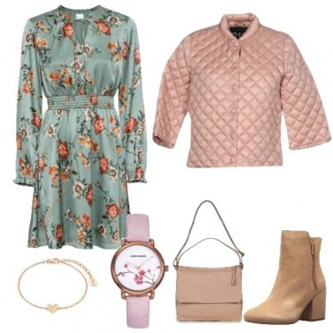 Outfit Autunno in rosa