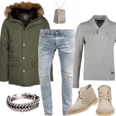 Outfit PARKA & CLARKS