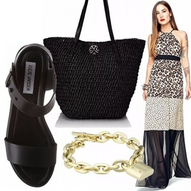 Outfit Maxi dress animalier