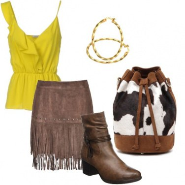 Outfit Moderny Cow girl