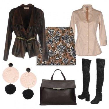 Outfit Minigonna per l'autunno