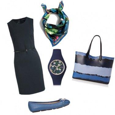 Outfit Fulard e orologio