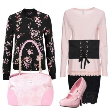 Outfit Day & Night with flowers