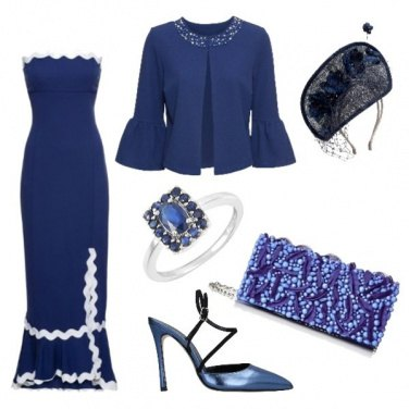 Outfit Royal wedding in blu