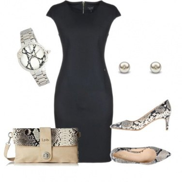 Outfit Blu silver