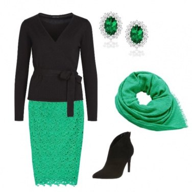 Outfit Touches of green